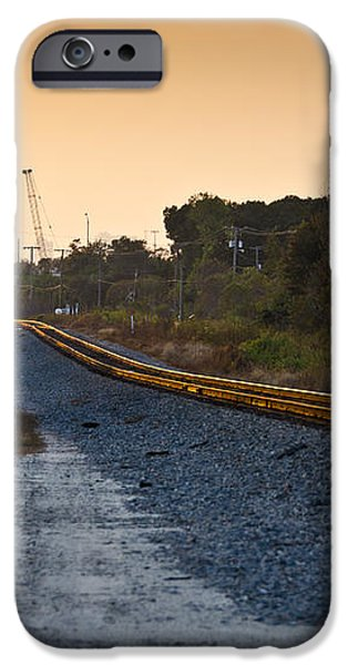 Railway Into Town iPhone Case by Carolyn Marshall