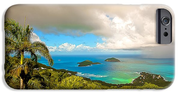 Charlotte iPhone Cases - Rain in the Tropics iPhone Case by Keith Allen
