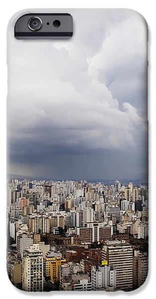 Rain Shower Approaching Downtown Sao Paulo iPhone Case by Jeremy Woodhouse