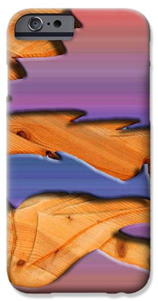 rainbow dinosaur fish iPhone Case by Robert Margetts