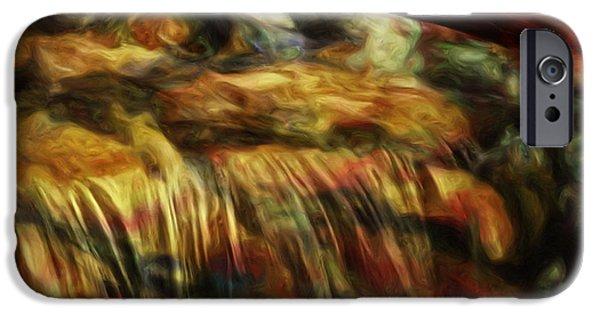 Painter Photo Digital Art iPhone Cases - Rainbow Falls iPhone Case by Jack Zulli