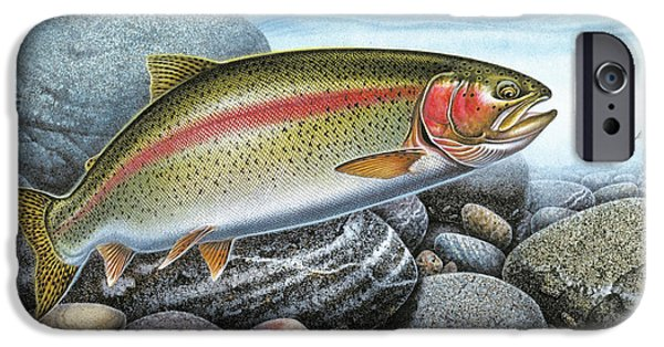 Jq Licensing iPhone Cases - Rainbow Trout Stream iPhone Case by JQ Licensing