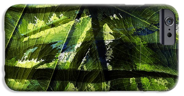 Abstract Digital iPhone Cases - Rainforest Abstract iPhone Case by Bonnie Bruno