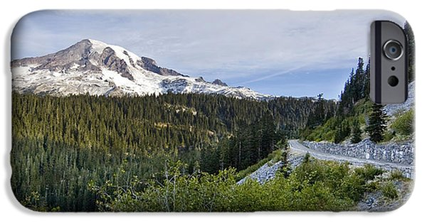 Mountain Road iPhone Cases - Rainier Journey iPhone Case by Mike Reid