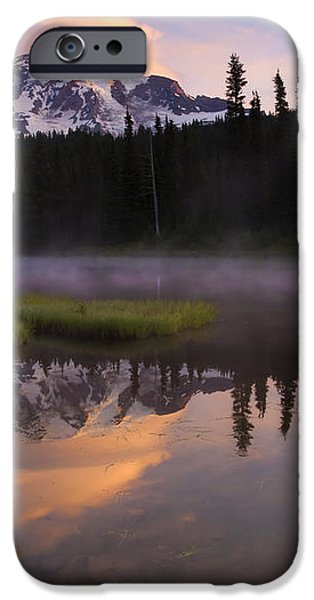 Rainier Lenticular Sunrise iPhone Case by Mike  Dawson