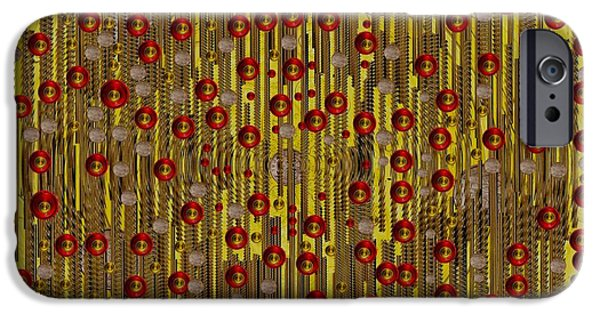 Coins Mixed Media iPhone Cases - Raining Coins And Juwels iPhone Case by Pepita Selles