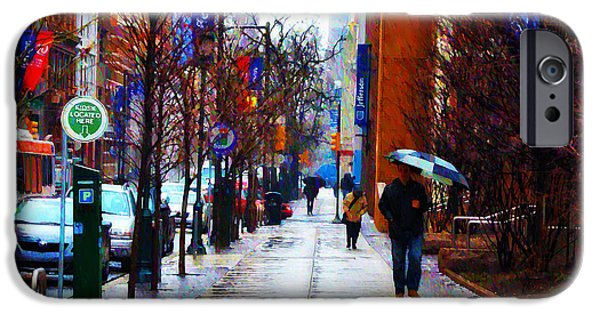Rainy Day iPhone Cases - Rainy Day Feeling iPhone Case by Bill Cannon