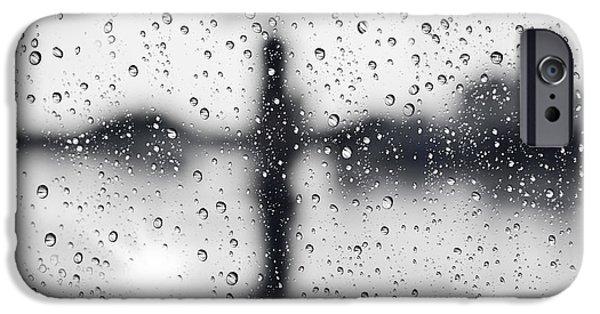 Raining iPhone Cases - Rainy day iPhone Case by Setsiri Silapasuwanchai