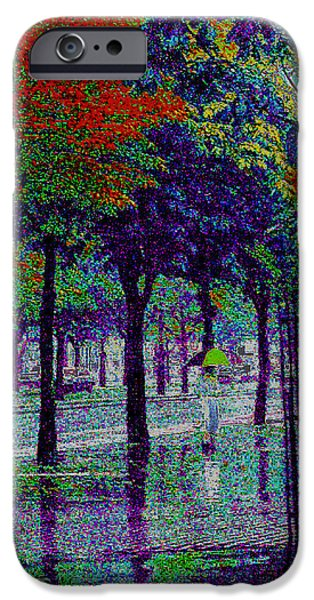 Rainy Day iPhone Cases - Rainy Day Woman iPhone Case by Louis Nugent