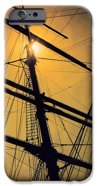 Tall Ship iPhone Cases - Raise the Sails iPhone Case by Lauri Novak