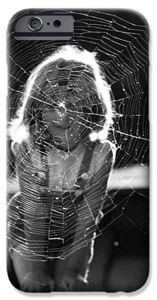 Design iPhone Cases - Raluca and the spiderweb I iPhone Case by Emanuel Tanjala