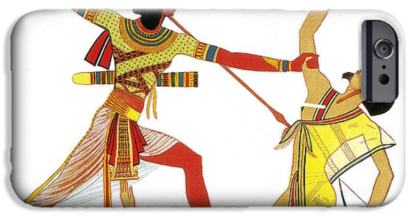 Nineteenth iPhone Cases - Ramesses Ii Impales Libyan Enemy, 12th iPhone Case by Photo Researchers