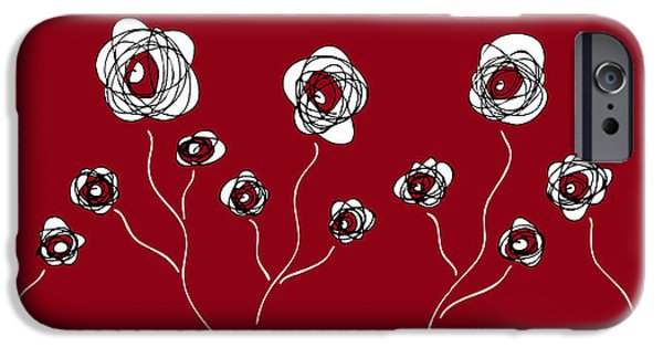 Nature Abstracts Drawings iPhone Cases - Ranunculus iPhone Case by Frank Tschakert