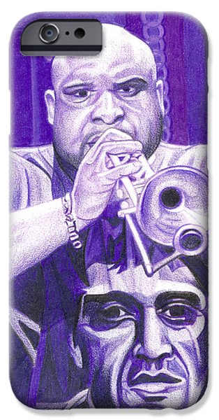 Dave iPhone Cases - Rashawn Ross iPhone Case by Joshua Morton