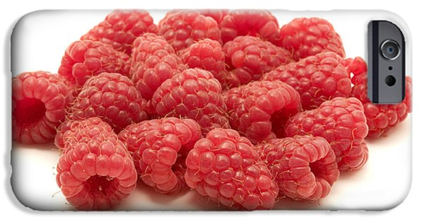 Cut-outs iPhone Cases - Raspberries iPhone Case by Fabrizio Troiani
