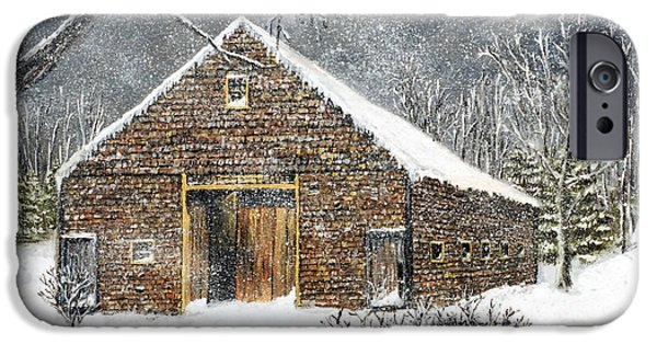 Recently Sold -  - Jack Skinner iPhone Cases - Ray Emersons Old Barn iPhone Case by Jack Skinner