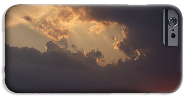 Sun Rays Digital iPhone Cases - Reach for the Sky 5 iPhone Case by Mike McGlothlen
