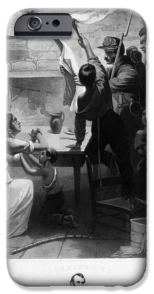 Reading Emancipation Proclamation iPhone Case by Photo Researchers