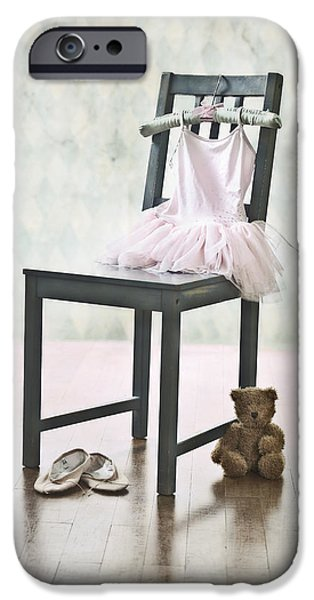 Stuffed Animal iPhone Cases - Ready For Ballet Lessons iPhone Case by Joana Kruse