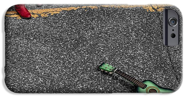 Ukelele iPhone Cases - Real Gone In Nowheresville iPhone Case by Terry Doyle