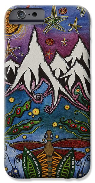Landscape With Mountains iPhone Cases - Realistic Imagination iPhone Case by Tanielle Childers