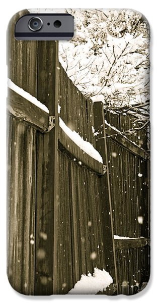 Snowy Day Photographs iPhone Cases - Realm Of Thought iPhone Case by Gwyn Newcombe