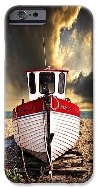 Trawler iPhone Cases - Rebecca iPhone Case by Meirion Matthias