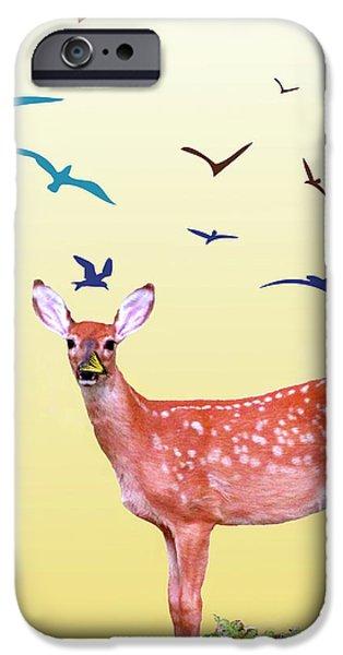 Animal Photograph Mixed Media iPhone Cases - Reborn Spring iPhone Case by Debra     Vatalaro