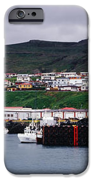 Recreation and Fishing Boats in Stykkisholmur Harbor iPhone Case by Jeremy Woodhouse