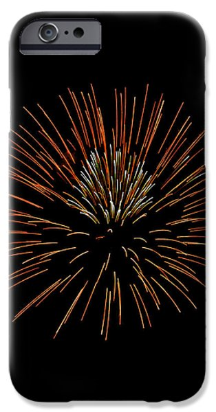 July 4th Digital Art iPhone Cases - Red Ball iPhone Case by Phill  Doherty