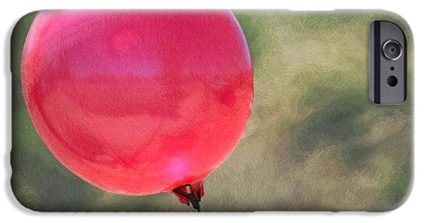 Red Balloons iPhone Cases - Red Balloon iPhone Case by Ernie Echols