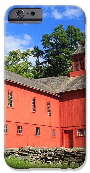 Red Barn at Bryant Homestead iPhone Case by John Burk