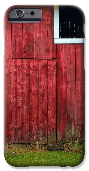 Red Barn iPhone Cases - Red Barn Wall iPhone Case by Steve Gadomski