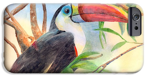 Toucan iPhone Cases - Red-billed Toucan iPhone Case by Arline Wagner