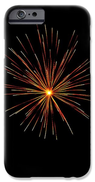 July 4th Digital Art iPhone Cases - Red Burst iPhone Case by Phill  Doherty