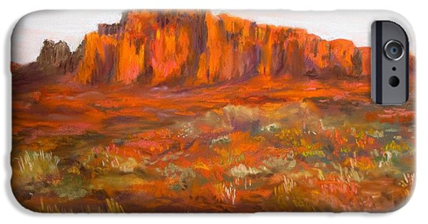 Jack Skinner iPhone Cases - Red Cliffs iPhone Case by Jack Skinner