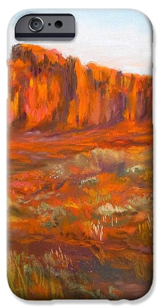 Red Cliffs iPhone Case by Jack Skinner