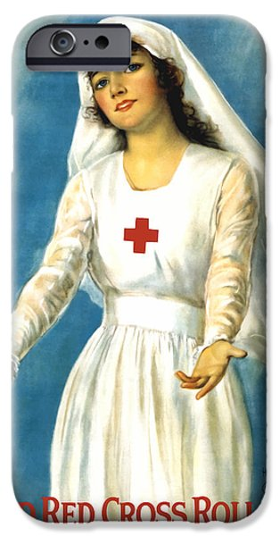 One iPhone Cases - Red Cross Nurse iPhone Case by War Is Hell Store