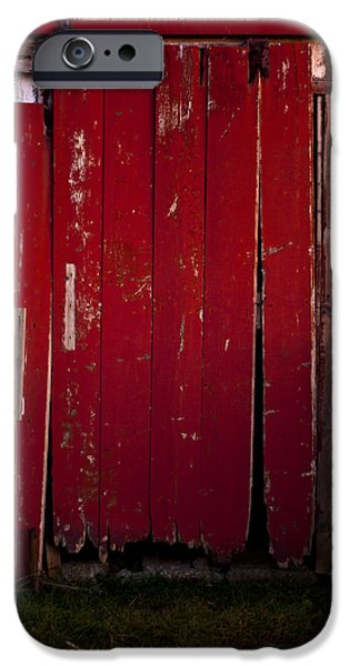 Farm iPhone Cases - Red Door iPhone Case by Cale Best