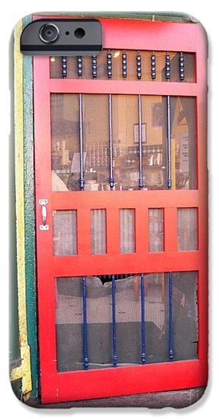 Red Door iPhone Case by David Bearden