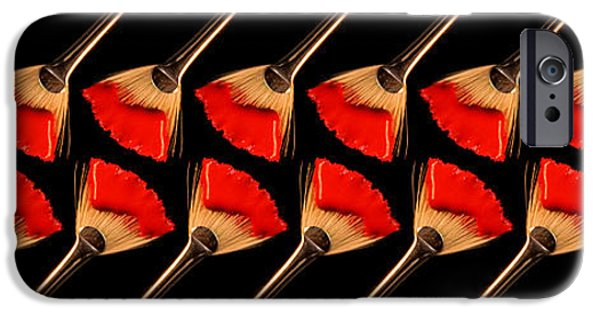 Concept Art iPhone Cases - Red Fan Dance iPhone Case by Andee Design