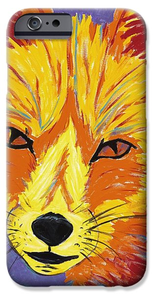Fort Collins Paintings iPhone Cases - Red Fox iPhone Case by Peggy Quinn