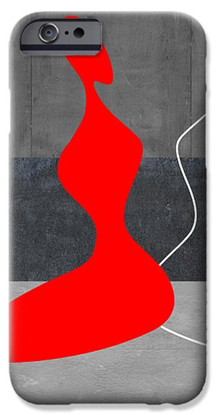 Red Girl iPhone Case by Naxart Studio