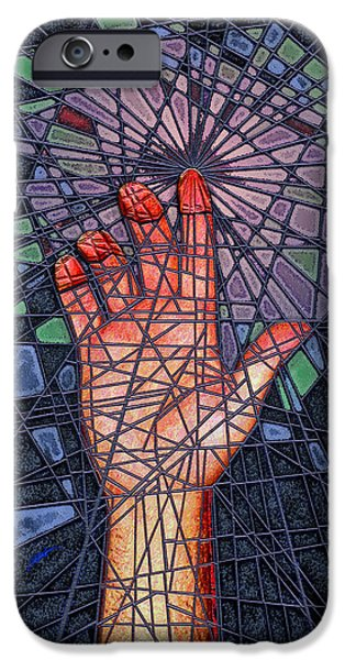 Virtual iPhone Cases - Red Hand of the 49 iPhone Case by Douglas Christian Larsen