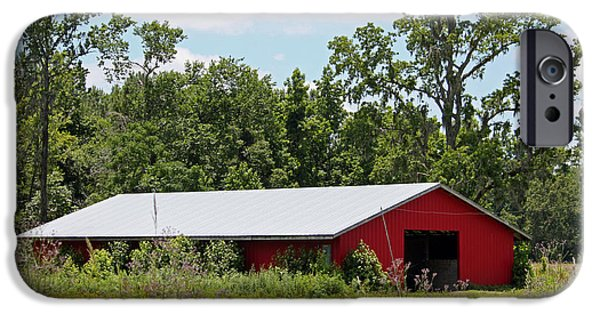 Barn Poster Photographs iPhone Cases - Red Horse Barn iPhone Case by Suzanne Gaff