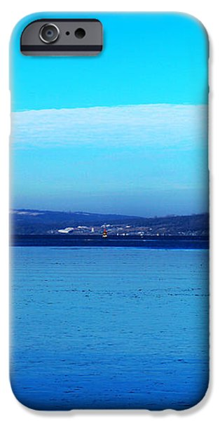 Red lighthouse in Cayuga Lake New York iPhone Case by Paul Ge