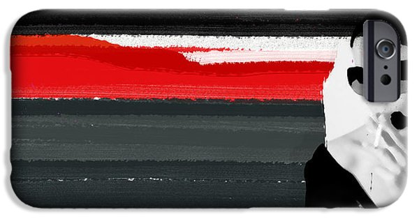 Naxart Mixed Media iPhone Cases - Red Line iPhone Case by Naxart Studio