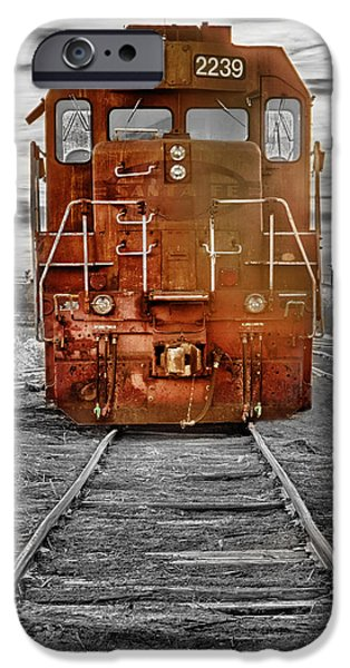 Tree Art Print iPhone Cases - Red Locomotive iPhone Case by James BO  Insogna