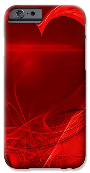 Red Love . A120423.279 iPhone Case by Wingsdomain Art and Photography