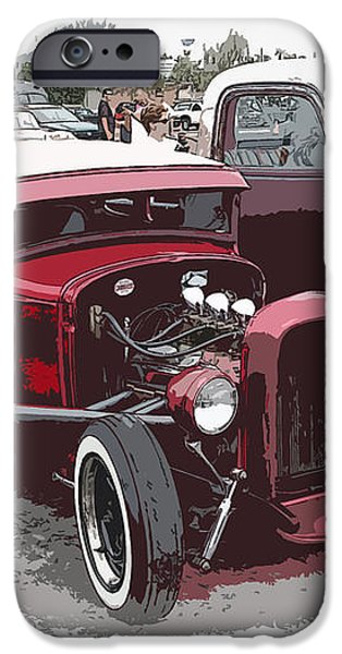 Red Model A Coupe iPhone Case by Steve McKinzie